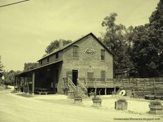 Metamora, Indiana - a historic canal town with 1830's and older buildings.  One of the main attractions in Metamora is the grist mill, which was originally built in 1845. And it still grinds corn (you can buy a bag of the cornmeal there).