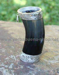Guampa - Rinderhorn mit Silberbeschlag, Tradition aus Paraguay