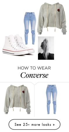 """Eva"" by bambi2014 on Polyvore featuring Sans Souci and Converse"