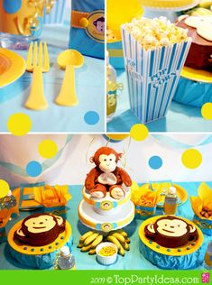 Looking for ideas for a modern, but funky and cute and with a handmade touch - monkey party for a 1 year old.  Help!