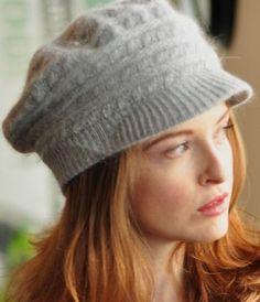 Grey Brimmed Knit Hat