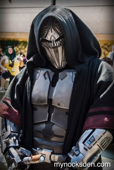 Sith acolyte robe and armor.  Robe made by Sharon Honey and armor by mynocksden on Faceook. Outfit is 501st approved.