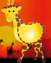 DIY giraffe lampion