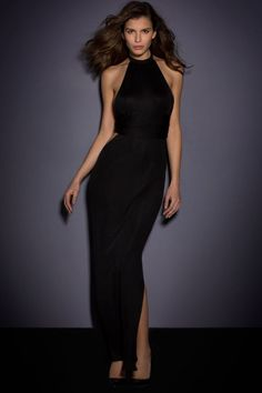 a376d216160 Black Sexy Halter Neck Backless Jersey Maxi Dress US  7.02  jerseydress   maxidress