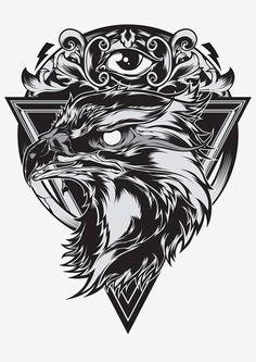 Eagle eye illustration by Shulyak Brothers , via Behance