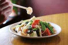 Pan-fried crispy noodles with seafood at Michael's Noodles - Is Rockville the new Chinatown? - Bethesda Magazine - September-October 2016 - Bethesda, MD
