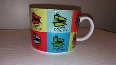 Caribou Coffee Mug 13oz Multi Colored Logo Warhol Style  #CaribouCoffee