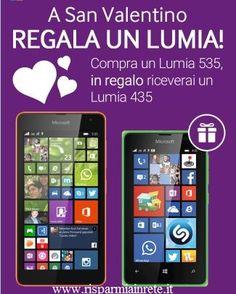 acquista un  #Lumia 535 per #SanValentino Riceverai un altro Lumia per lei/lui