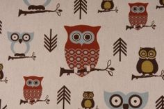 Juvenile Fabric :: Premier Prints Hooty Printed Cotton Drapery Fabric in Village Natural - Fabric Guru.com: Fabric, Discount Fabric, Upholstery Fabric, Drapery Fabric, Fabric Remnants, wholesale fabric, fabrics, fabricguru, fabricguru.com, Waverly, P. Kaufmann, Schumacher, Robert Allen, Bloomcraft, Laura Ashley, Kravet, Greeff