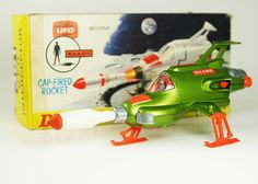 Dinky's SHADO Interceptor for Gerry Anderson's UFO. We never understood why it was green, but it was still spectacularly awesome. In addition to Thunderbirds toys, My brothers and I had a few Dinky vehicles from Captain Scarlet and Joe 90 as well, even though none of us had seen the shows at that point.