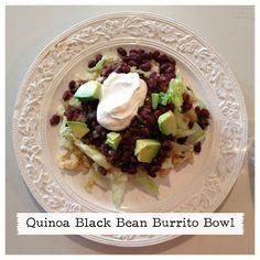Britney Munday: Quinoa Black Bean Burrito Bowl