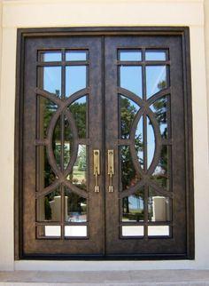 Contemporary Iron Double Door Clark Hall Iron Doors Charlotte, NC
