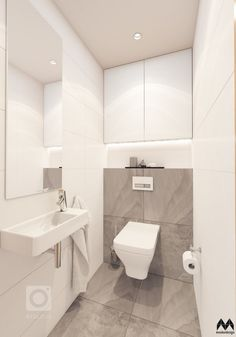 Small Downstairs Toilet, Small Toilet Room, Small Bathroom, Small Toilet Decor, Bathrooms, Washroom Design, Bathroom Design Luxury, Modern Bathroom Design, Small Toilet Design