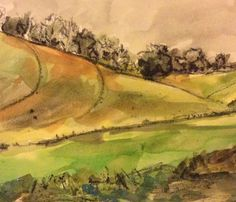 2016-11-21 Happily driving through Welsh hills before meeting snow! (Artist Mary)