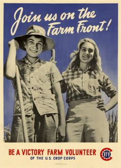 vintage farming poster - I like the typogrpahy