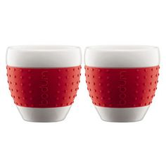 Bodum Pavina 2-pc Mug (Red)  $19.99      You don't have to be the touchy-feely type to appreciate the new PAVINA mugs, but still they are wonderful to the touch. The silicone sleeve protects the mug from slipping out of your hand. Not only do the new PAVINA mugs serve coffee, tea and hot chocolate, they certainly are perfect for desserts as well, e.g. ice cream.
