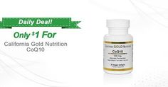 Coenzyme Q10, Naturally Fermented, Non GMO -- ONLY $1 -- Sale ends 10/16 at 10 AM, PST!