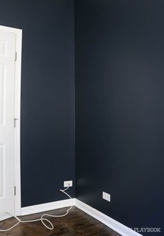 Valspar Royal Navy For Nursery Accent Wall Our Home In