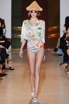 Beach Me Up Tsumori! Silky Bathing Beauties with an Esther Williams Wink.   Tsumori Chisato Spring 2014 Ready-to-Wear Collection Slideshow on Style.com