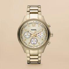 Fossil- golden watch