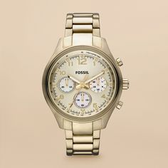 Fossil Flight Plated Stainless Steel Watch - Gold-Tone