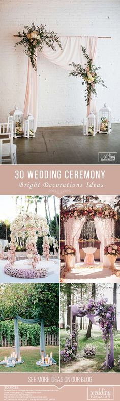 30 Bright Ideas Of Wedding Ceremony Decorations ❤ The ceremony is the most thrilling aspects of the celebration. Every girl has imagined this moment! We collected wedding ceremony decorations ideas for you. Wedding Ceremony Script, Wedding Ceremony Decorations, Outdoor Wedding Venues, Wedding Centerpieces, Decor Wedding, Fall Wedding, Diy Wedding, Rustic Wedding, Wedding Flowers