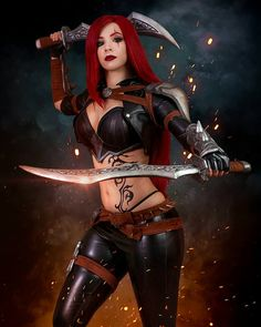 League of Legends Katarina by Enji Night