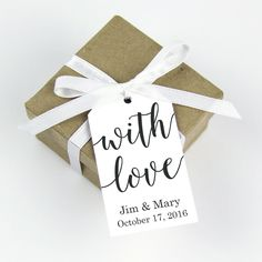 with love favor tag - wedding favors- any occasion - with love