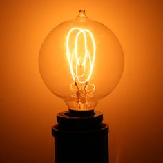 15 watt 120 volt Round Carbon Filament Candelabra Screw Base Ferrowatt (1907) Antique Light Bulbs, Small Mason Jars, Candelabra, Lighting, Antiques, Base, Globe, Home Decor, Interiors