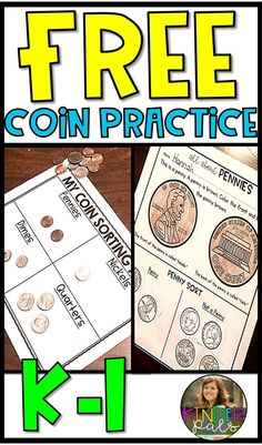 money worksheets, activities, and posters to teach and practice US coin identification and recognition!Free money worksheets, activities, and posters to teach and practice US coin identification and recognition! Money Worksheets, Kindergarten Worksheets, Kindergarten Learning, Grammar Worksheets, Teaching Money, Teaching Math, Teaching Ideas, Money Activities, Money Math Games