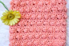 Learn how to crochet the boxed bead stitch. This is a pretty stitch that you can use for all sorts of projects to create an unique and interesting look. Crotchet Stitches, Crochet Stitches Patterns, Stitch Patterns, Crochet Mouse, Crochet Baby, Free Crochet, Double Crochet, Single Crochet, Crochet Scarves