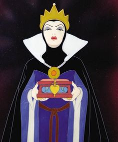 Queen Grimhilde, I always thought her prettier and by far more stylish than the Snow White