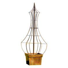 H. Potter Genie 35-In W X 66-In H Charcoal Brown Garden Trellis Gar460