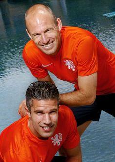 Arjen Robben en Robin van Persie...too hot! #Netherlands #WorldCup2014