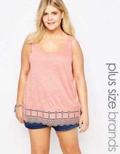New Look Plus Embellished Hem Vest Top