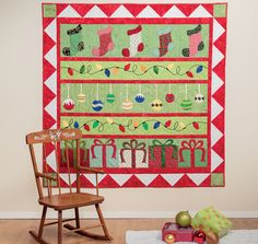 Get in the Christmas-sewing spirit with a fresh collection of quilts from Cheryl Almgren Taylor. From classic and beautiful to adorably whimsical, you'll be inspired by her new book, Christmas is Coming.