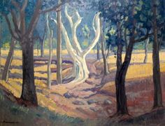 JH Pierneef, Oil on canvas, 505 x 655 mm, Landscape Mural Painting, Artist Painting, Paintings, South African Artists, Old Master, Landscape Art, Impressionist, Printmaking, Oil On Canvas