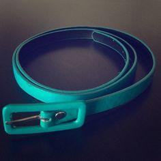 Aqua Belt Thin aqua colored belt Accessories Belts