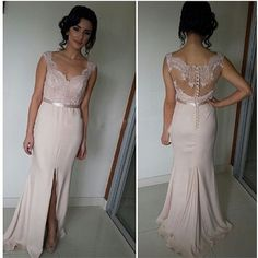 H32 mermaid prom dresses, pink prom dresses, lace prom dresses, dresses for prom, prom dresses 2017, cheap prom dresses