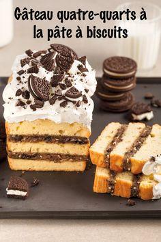 La pâte à biscuits… on l'aime à la folie! Pour recevoir, on vous propose ce décadent gâteau quatre-quarts à la pâte à biscuits. Un classique pimpé qui fera l'unanimité! Desserts, Pound Cakes, Cake Batter Cookies, Recipe, Tailgate Desserts, Deserts, Postres, Dessert, Plated Desserts