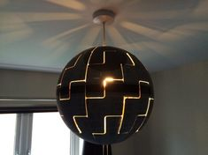 How To Turn An IKEA Lamp Into An Awesome 'Star Wars' Death Star Replica - DesignTAXI.com