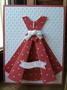 más y más manualidades: Crea invitaciones con forma de vestido usando un solo molde