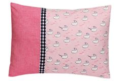 Decorative Pillow, Pink Narwhals on OneKingsLane.com #sarahjanestudios
