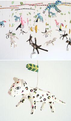 Papier Mache Cats