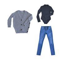 Collectabl Winter Capsule Wardrobe   Oversized Sweater   Bodysuit   Jeans