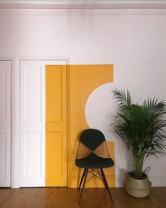 home decor yellow walls * home decor yellow ; home decor yellow and grey ; home decor yellow accents ; home decor yellow and blue ; home decor yellow walls ; home decor yellow and grey living room ; home decor yellow living room Colour Blocking Interior, Color Interior, Yellow Interior, Living Room Decor, Bedroom Decor, Dining Room, Fairy Bedroom, Bedroom Wall Designs, Interior Styling