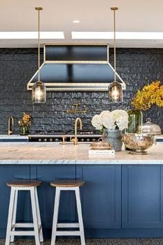 Brass Tap, Island Bench, Kitchen Taps, Cabinet Hardware, Marble Top, Kitchen Inspiration, Kitchen Design, Satin, Furniture
