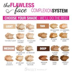 Sweet Minerals Flawless Face - choose your foundation, and the bronzer, blush and veil are coordinated for you! No Guessing! www.sweetminerals.com/jackieewasko
