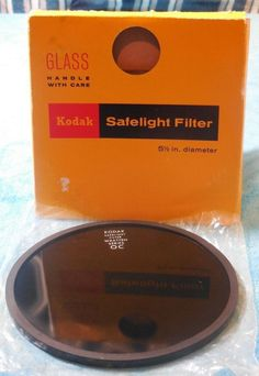 KODAK 5 1/2 INCH SAFELIGHT FILTER WRATTEN SERIES, OC #Kodak