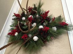 Antler Wreath homemade